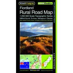 Fiordland Rural Roads Topographic Map 250-16