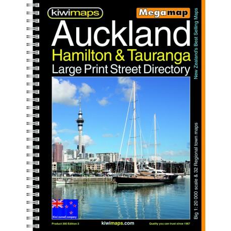 Hamilton Tauranga A3 Large Print Bookmap 300