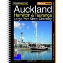 Auckland Hamilton Tauranga A3 Large Print Bookmap 300