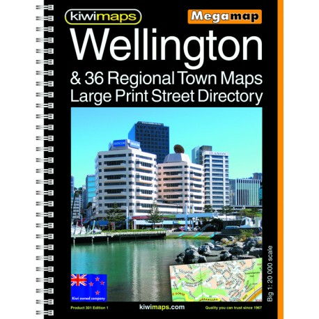 Wellington & 36 Towns A3 Large Print Bookmap 301