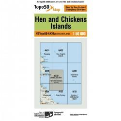 Topo50 AX32 Hen and Chickens Island