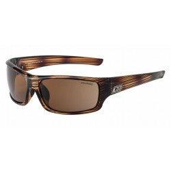 Dirty Dog Clank Sunglasses - Line Brown Frames with Brown Polarized Lens