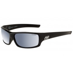 Dirty Dog Clank Sunglasses - Black Frames with Silver Mirror Polarized Lens