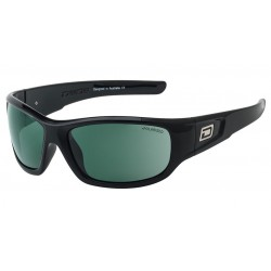 Dirty Dog Sythe Sunglasses - Black Frames with Green Polarized Lens