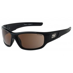 Dirty Dog Sythe Sunglasses - Black Frames with Brown Polarized Lens