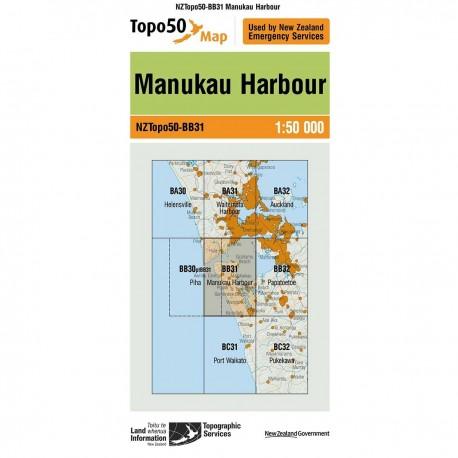 Topo50 BB31 Manukau Harbour