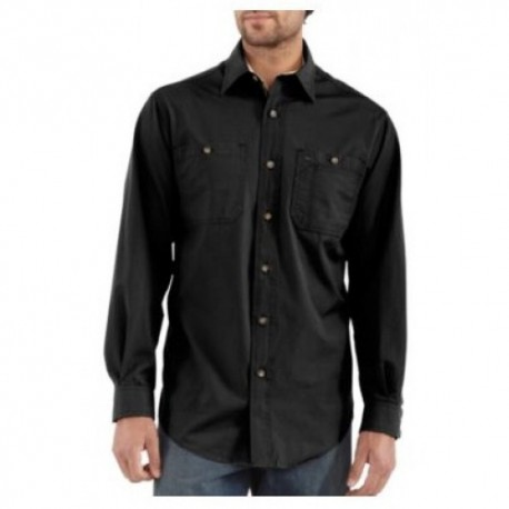 Carhartt Canvas Tradesman Shirt in Black : Long Sleeve