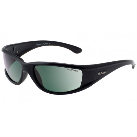 0a4aaf7b59e Dirty Dog Banger Sunglasses - Black Frames with Green Polarized Lens