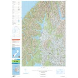 NZ Topo 250 Map 25 - Te Anau
