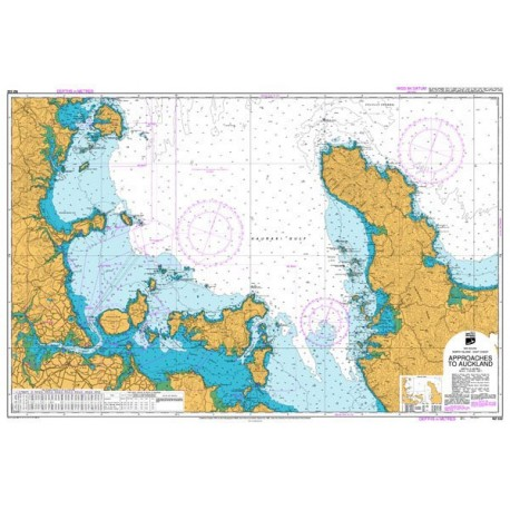 NZ 532 Hydrographic Nautical Chart- Approaches to Auckland