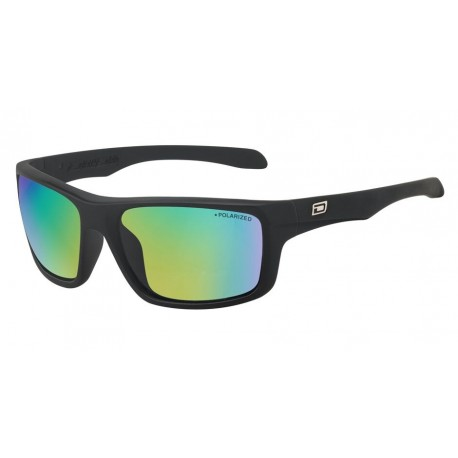 Dirty Dog Axle, Satin Black-Green Frames with Green Fusion Lens