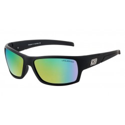 Dirty Dog Beast, Satin Black, Green Frames with Green Fusion Lens