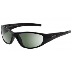 Dirty Dog Safety Glasses Coal, Shiny Black Frames with Green Protective Lens