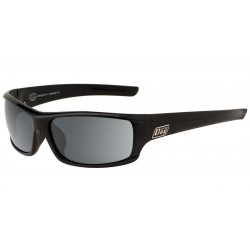 Dirty Dog Clank Sunglasses, Black Frames with Grey Polarized Lens