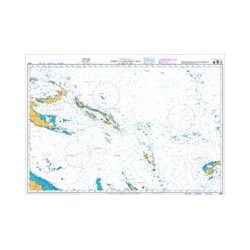 NZ 14604 Hydrographic Nautical Chart- Coral and Solomon Seas and adjacent seas