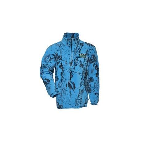 Ridgeline Micro Fleece Long Sleeve Shirt - Blue Camo