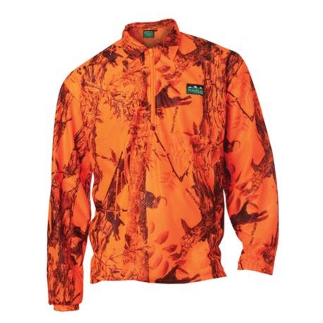 Ridgeline Micro Fleece Long Sleeve Shirt - Blaze Camo