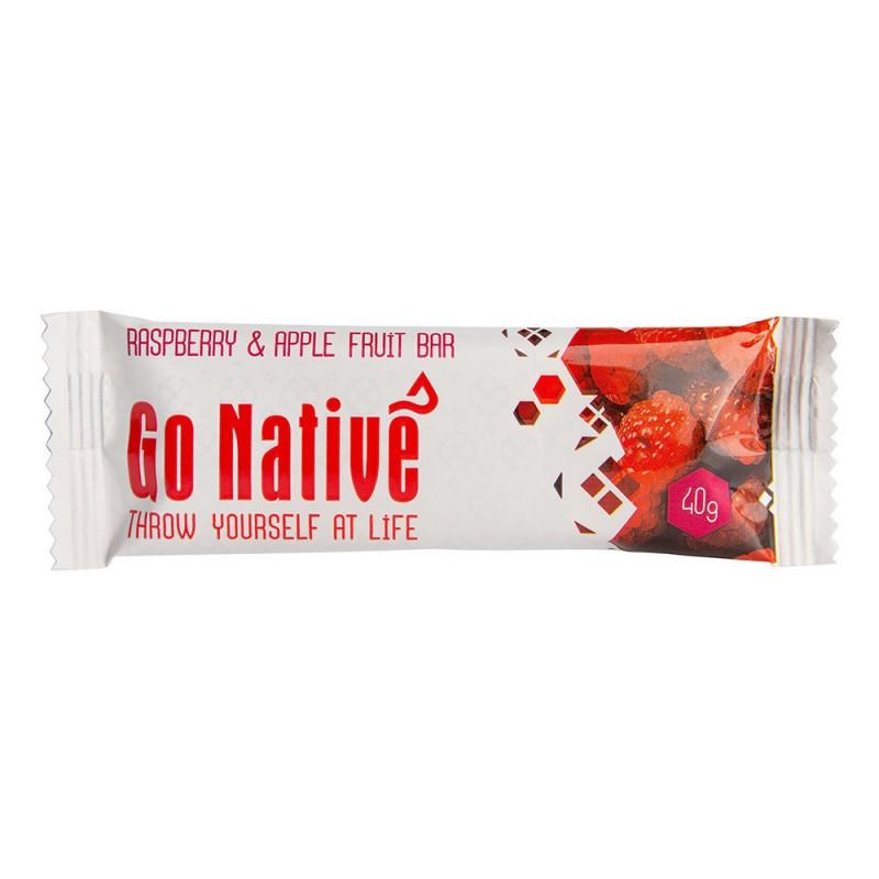 go native raspberry  u0026 apple fruit bar 40g