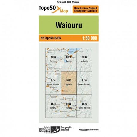 Topo50 BJ35 Waiouru