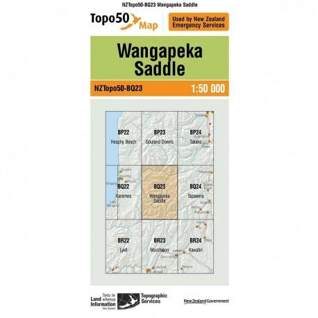 Topo50 BQ23 Wangapeka Saddle