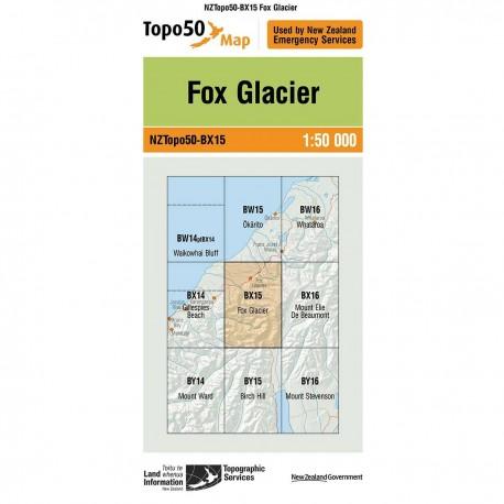 Topo50 BX15 Fox Glacier