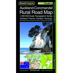 Auckland-Coromandel Rural Roads Topographic Map 250-3