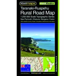 Taranaki-Ruapehu Rural Roads Topographic Map 250-6
