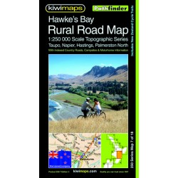 Hawkes Bay Rural Roads Topographic Map 250-7