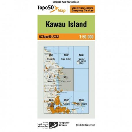 Topo50 AZ32 Kawau Island
