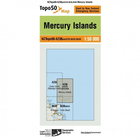 Topo50 AZ36 Mercury Islands
