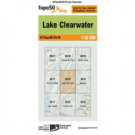 Topo50 BX18 Lake Clearwater