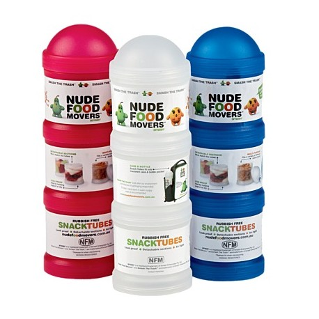 Nude Food Movers Snack Tubes Tripple Stack