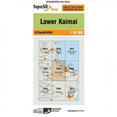 Topo50 BD36 Lower Kaimai