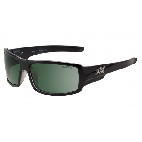 Dirty Dog Bubba, Black Marble with Green Polarized Lens