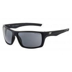 Dirty Dog Primp, Satin Black with Grey Polarized Lens -Unisex