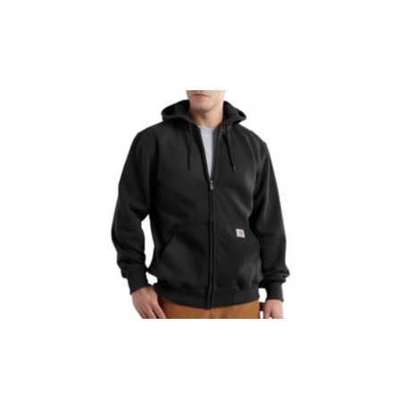 CARHARTT heavyweight hooded zip-front sweatshirt, Black