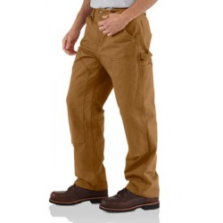 Carhartt Double Front Work Dungaree, Carhartt Brown