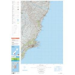 NZ Topo 250 Map 27 - Dunedin