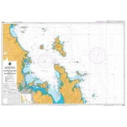 NZ 53 Hydrographic Nautical Chart- Bream Head to Slipper Island including Hauraki Gulf