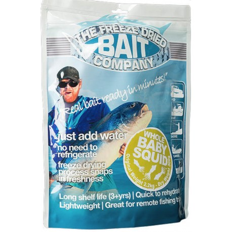 The Freeze Dried Bait Company Whole Baby Squid 50g