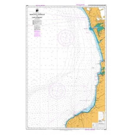 NZ 43 Hydrographic Nautical Chart- Manukau Harbour to Cape Egmont