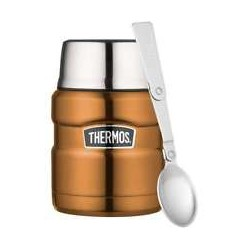 Thermos Stainless Steel Copper Food and Drink Flask 470ml