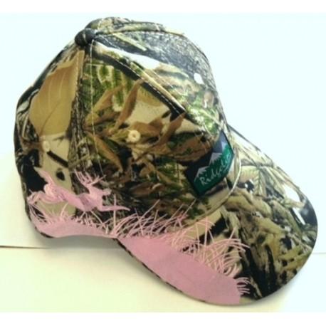 Ridgeline Deer Cap Buffalo Camo/ Pink