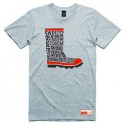 Red Band Slang Tee Grey Marle