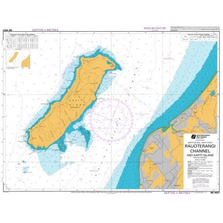 NZ 4631 Hydrographic Nautical Chart - Rauoterangi Channel and Kapiti Island
