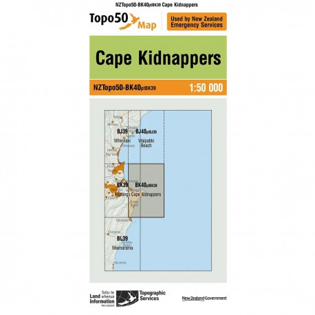 Topo50 BK40 Cape Kidnappers