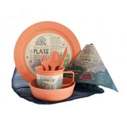 EcoSouLife Camping Food Set-Biodegradable - Orange