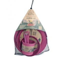 EcoSouLife Camping Food Set-Biodegradable - Pink