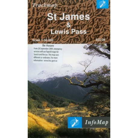 St James & Lewis Pass Trackmap (Rolled)