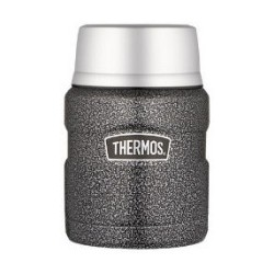 Thermos Stainless Steel Hammertone Food and Drink Flask 710ml